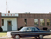 WDRC studios at 869 Blue Hills Avenue in Bloomfield, circa 1966, before the move to downtown Hartford