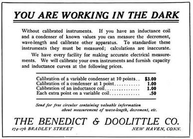 March 1913 ad in Electrician & Mechanic magazine