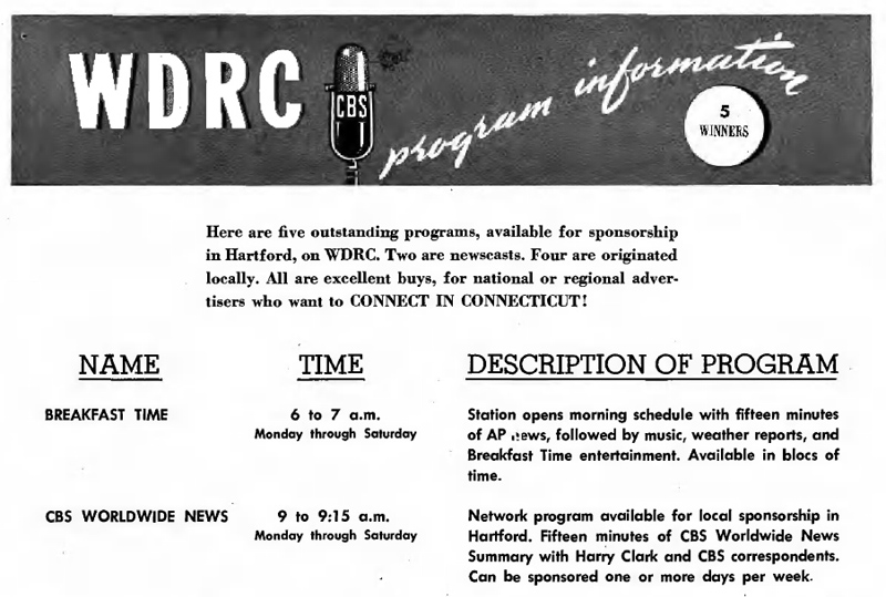 WDRC ad in Broadcasting magazine - July 30, 1945, p.31
