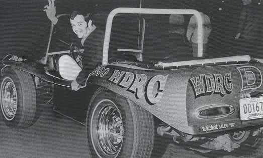 WDRC's Dick Robinson behind the wheel of Little Dee.