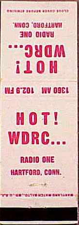 WDRC matchbook cover