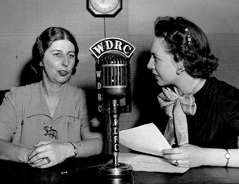 April 19, 1946 - WDRC's Lani Jurev interviewing Connecticut Secretary of State Frances Burk Redick