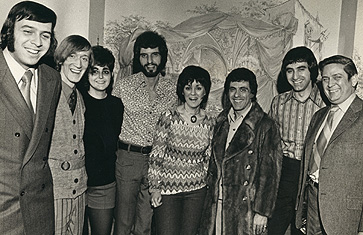 March 26, 1971 - WDRC staff with Frankie Valli and the Four Seasons
