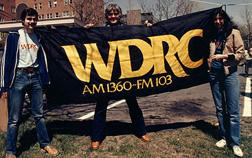 August 1981 - WDRC's Joey Orlando, Charlie Parker and Susannah Young